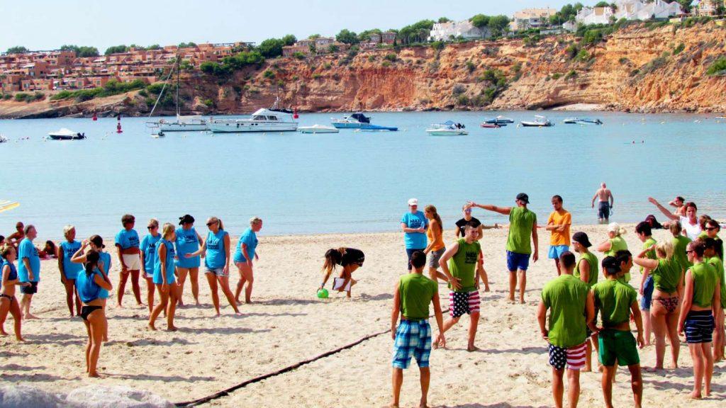 Gymkhana en la playa