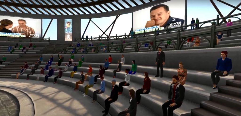 eventos virtuales basados en avatares